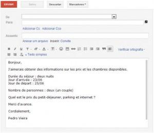 e-mail reserva