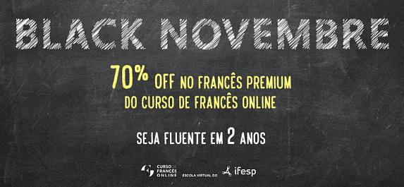 black novembre curso de francês