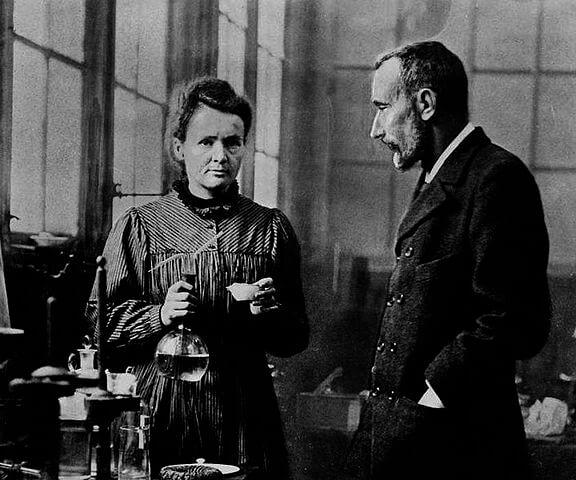 Marie Curie e Pierre Curie
